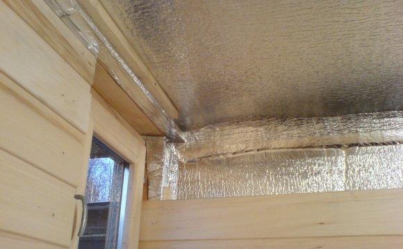 Обшивка потолка изнутри