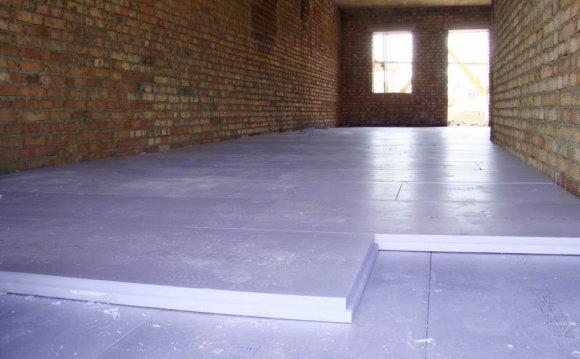 Монтаж пінопласту для підлоги під