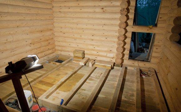 Утепление полов в деревянном