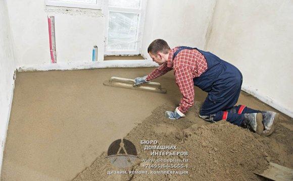Послуги із влаштування підлог в квартирі: