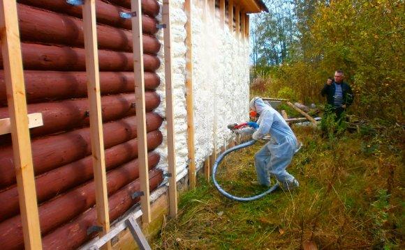 Утепление бревенчатого дома с