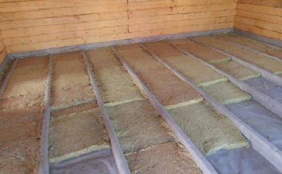 Утепление деревянного пола по