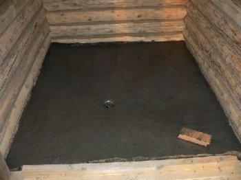 Бетонна підлога в лазні