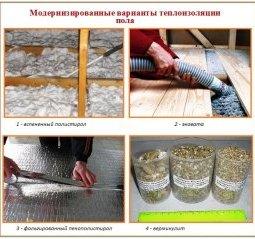Чим утеплити підлогу в приватному будинку