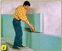 приклейка до стіни плит утеплювача