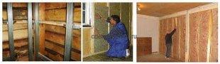 Технологія утеплення стін в дерев'яному будинку