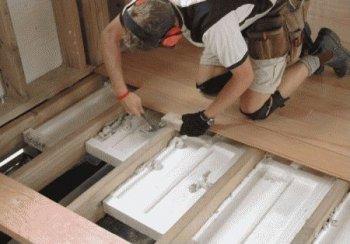 Утеплення підлоги в лазні з використанням пінопластових плит